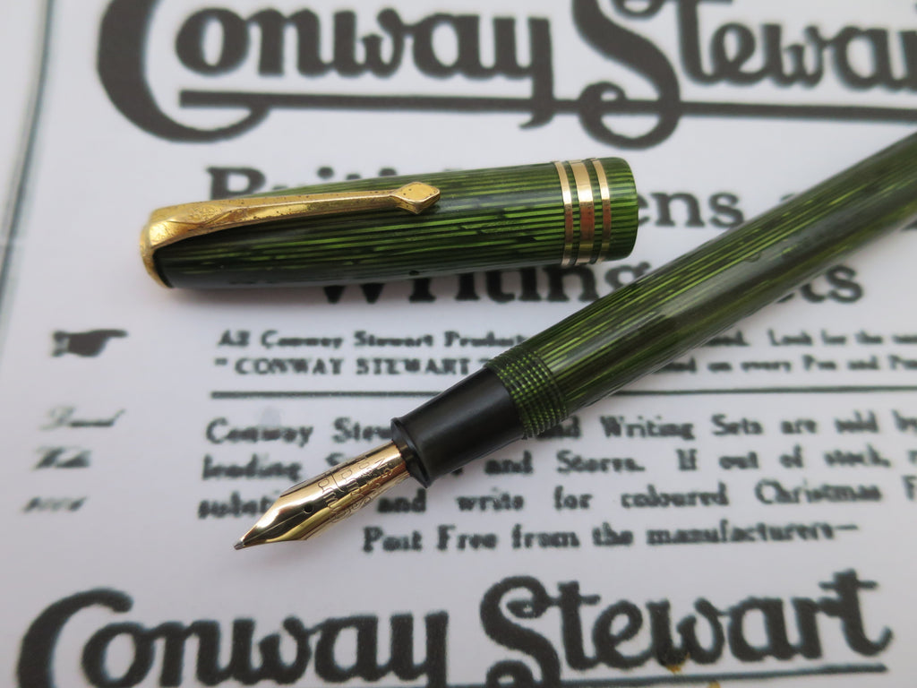Vintage Conway Stewart No.36 Lever Filled Fountain Pen Semi Flex Nib - (Serviced, Very Good Condition) - Grand Vision Pens UK