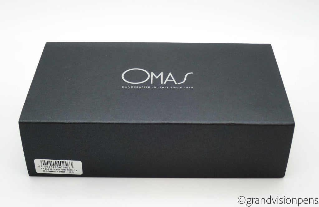 Boxed OMAS 360 Fountain Pen 18k Fine Nib (New Old Stock) - Grand Vision Pens UK