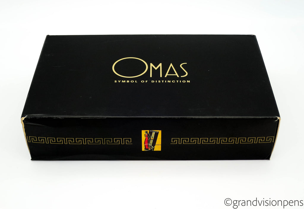 Boxed LE OMAS Dama Arco Bronze Celluloid Fountain Pen 18k Fine Nib (Nr Mint) - Grand Vision Pens UK