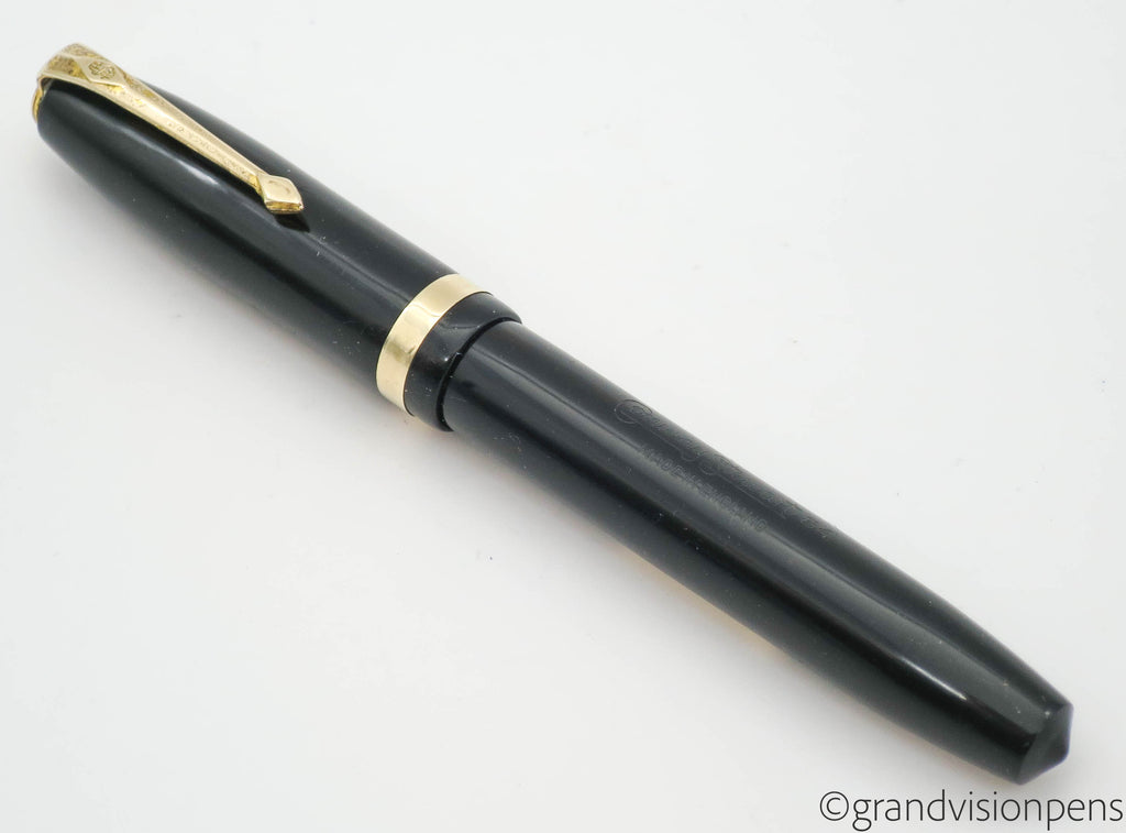 Vintage Conway Stewart No.84 Lever Filled Fountain Pen 14k Gold Stub Nib (Restored)