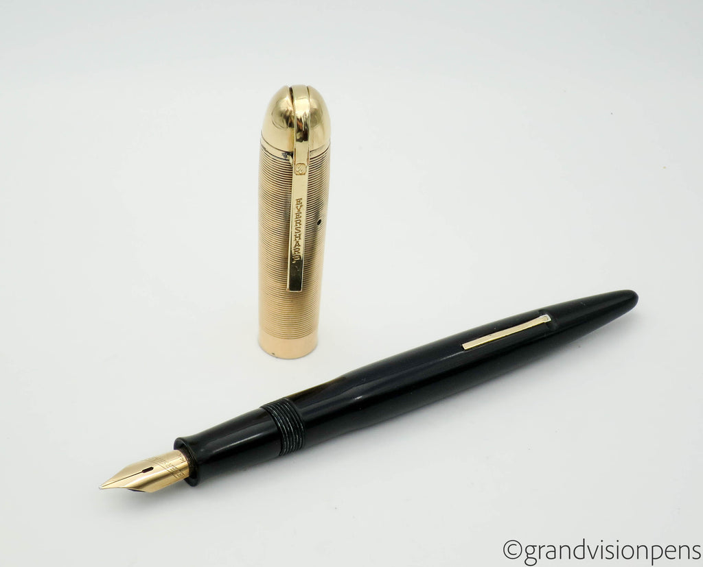 Vintage WAHL Eversharp Skyline Fountain Pen 14k Gold Medium Nib - Grand Vision Pens UK