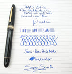 Vintage OMAS Ogiva Extra Piston Filled Fountain Pen 18k Gold Fine Nib - Grand Vision Pens UK