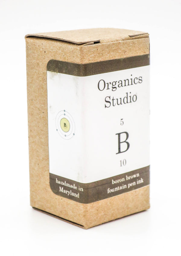 Organics Studio Ink: Elements Series - Boron Brown - Grand Vision Pens UK