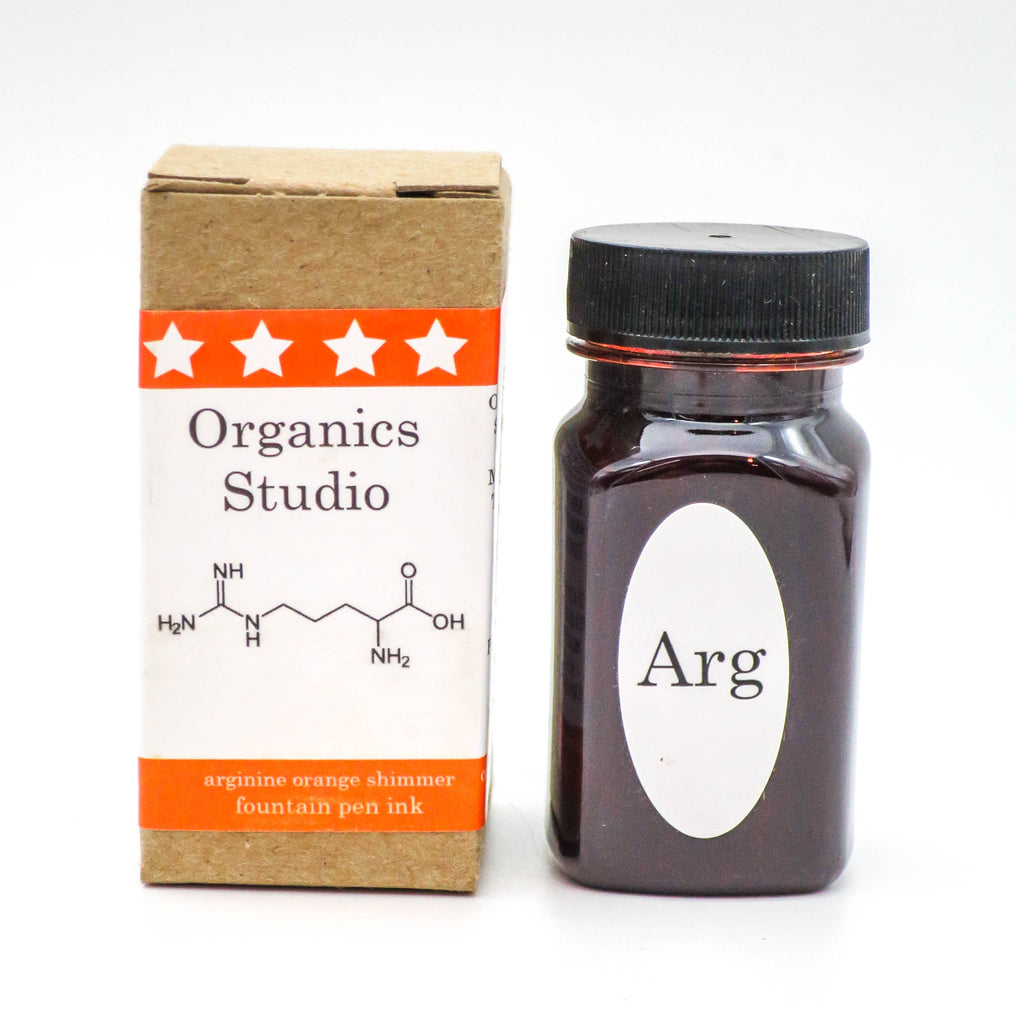 Organics Studio Ink: Amino Acid Shimmer Series - Arginine Orange Shimmer - Grand Vision Pens UK