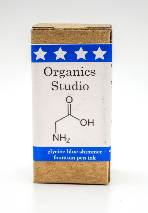 Organics Studio Ink: Amino Acid Shimmer Series - Glycine Blue Shimmer - Grand Vision Pens UK