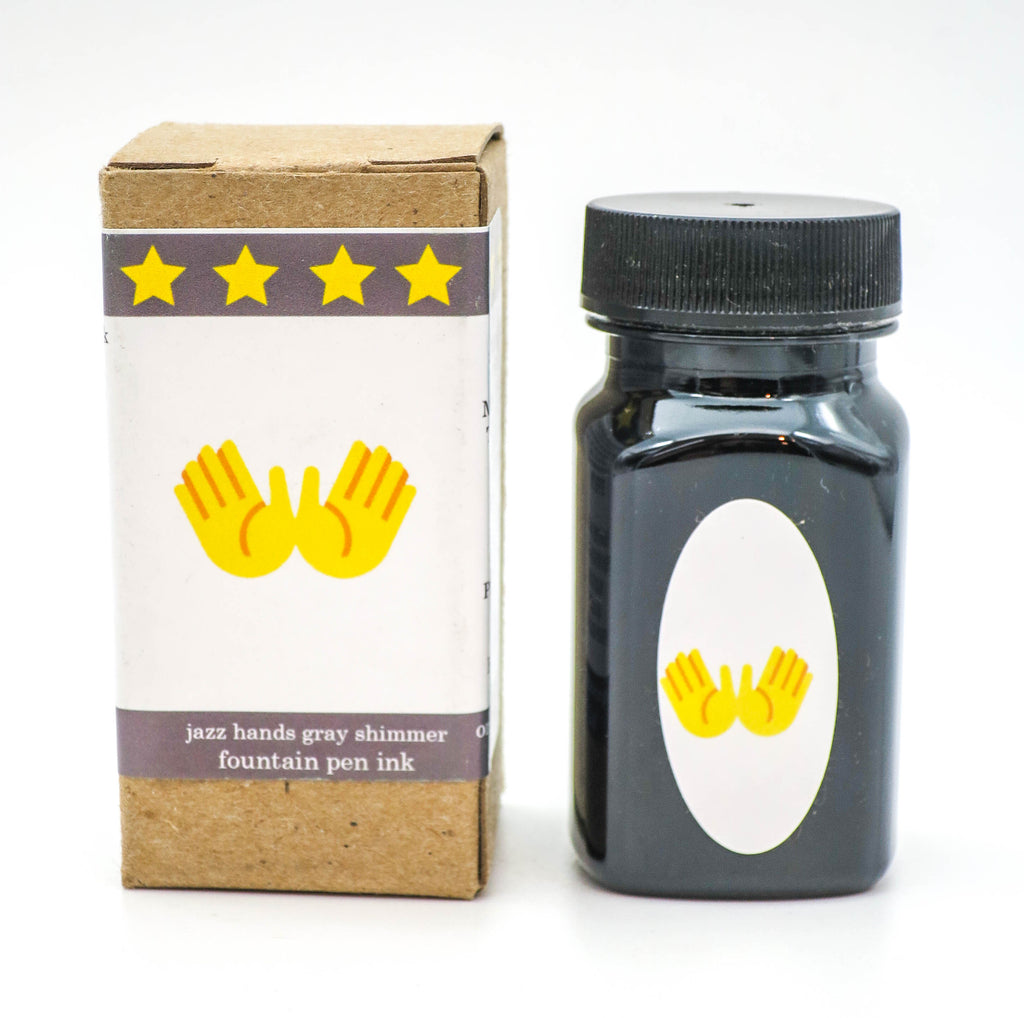 Organics Studio Ink: Limited Edition - Jazz Hands Grey Shimmer - Grand Vision Pens UK