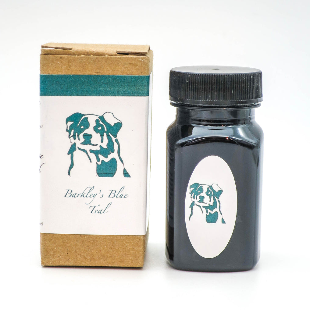 Organics Studio Ink: Vintage Ink Series: Barkley's Blue Teal - Grand Vision Pens UK