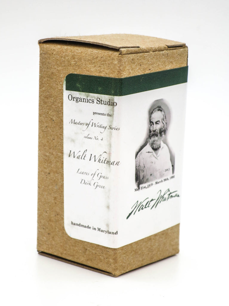 Organics Studio Ink: Master's of Writing Series:  Walt Witman Grey Green - Grand Vision Pens UK