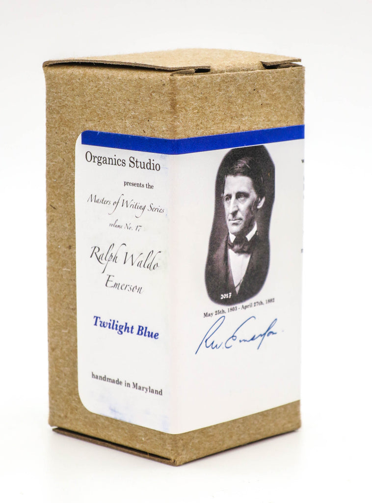 Organics Studio Ink: Master's of Writing Series: Ralph Waldo Emerson Twilight Blue - Grand Vision Pens UK