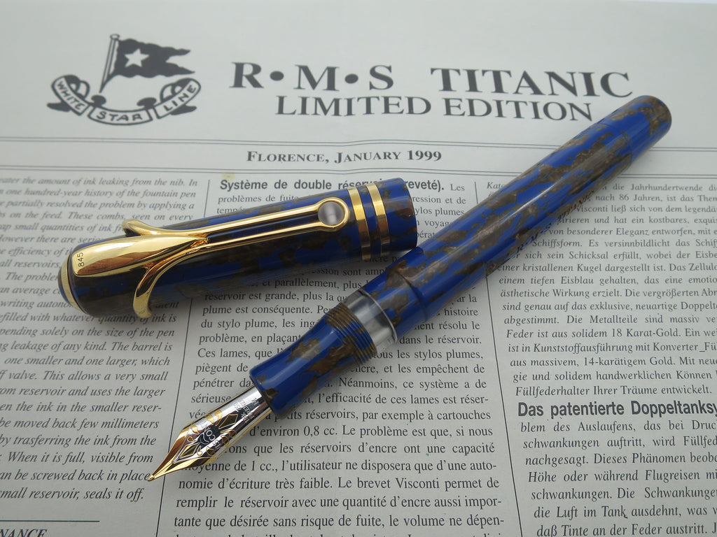 Boxed Visconti RMS Titanic Limited Edition Fountain Pen - Medium Nib (Mint Condition) - Grand Vision Pens UK