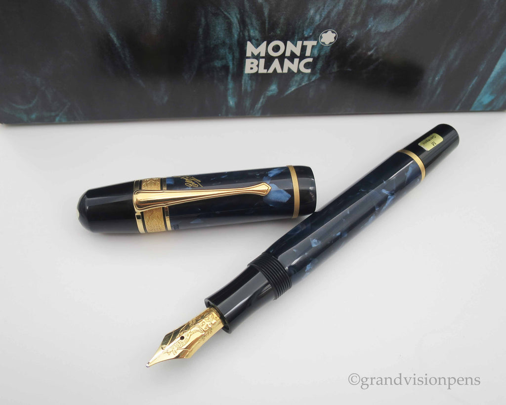 Boxed Mont Blanc Writer's Edition 'Edgar Allan Poe' Limited Edition Fountain Pen - Medium Nib (Near Mint Condition) - Grand Vision Pens UK