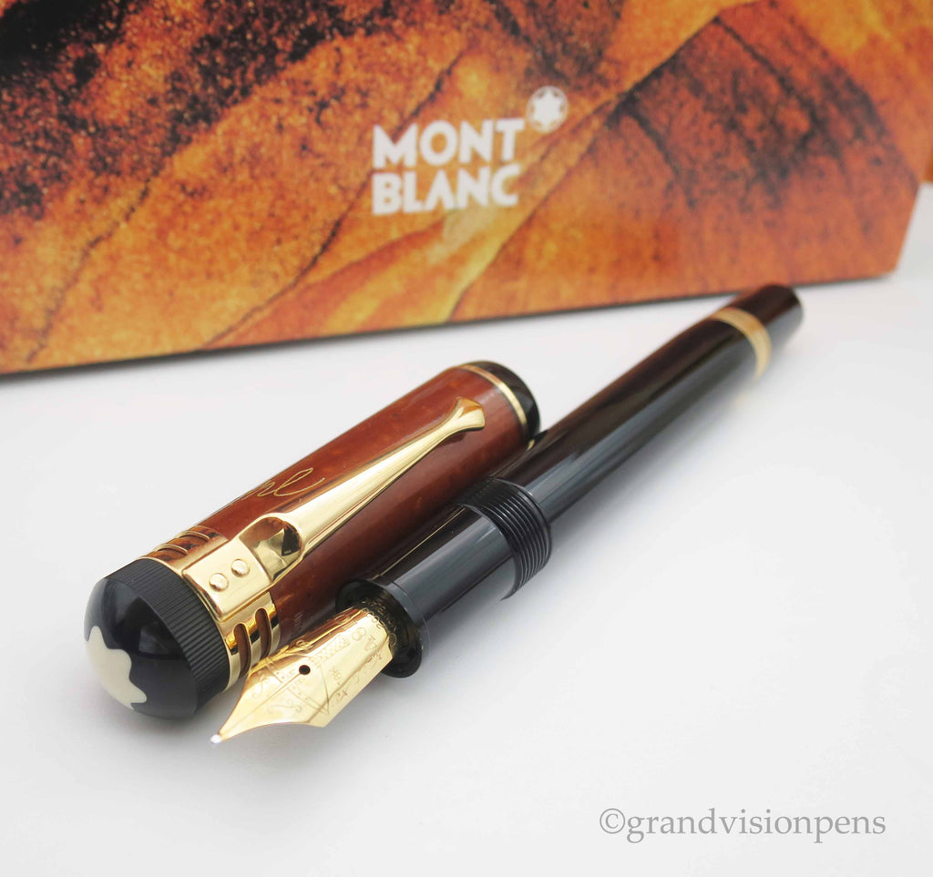 Boxed Mont Blanc Writer's Edition 'Schiller' Limited Edition Fountain Pen - Fine Nib (Near Mint Condition) - Grand Vision Pens UK