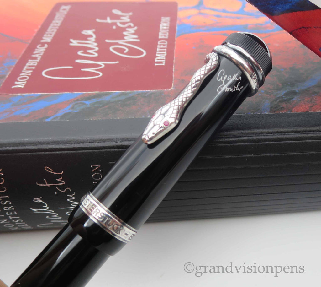 Boxed Mont Blanc Writer's Edition 'Agatha Christie' Limited Edition Fountain Pen - Medium Nib (Excellent Condition) - Grand Vision Pens UK