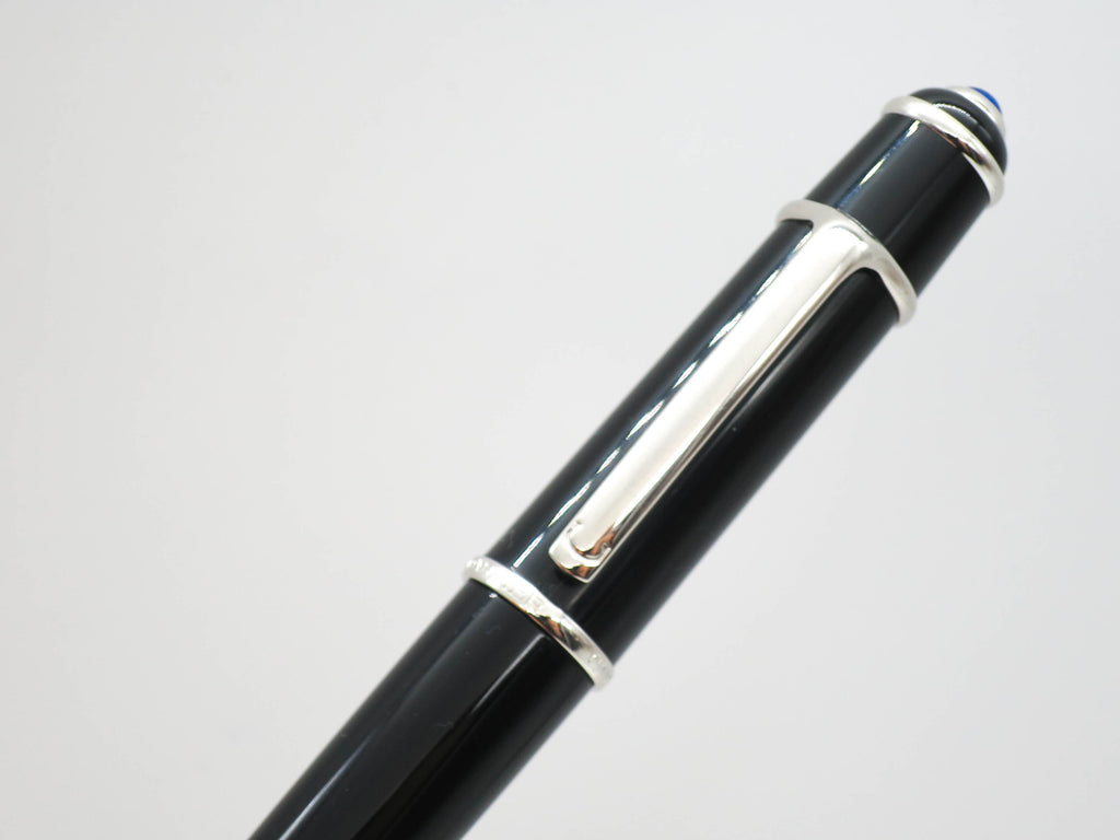 Boxed Cartier Diabolo Full Sized Fountain Pen 18k Broad Nib - Grand Vision Pens UK