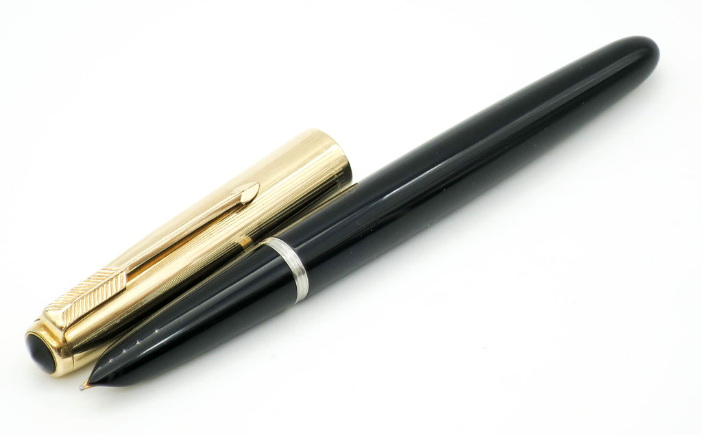 Vintage Parker 51 Aerometric Fountain Pen MKII 14k Gold Medium Nib - Grand Vision Pens UK