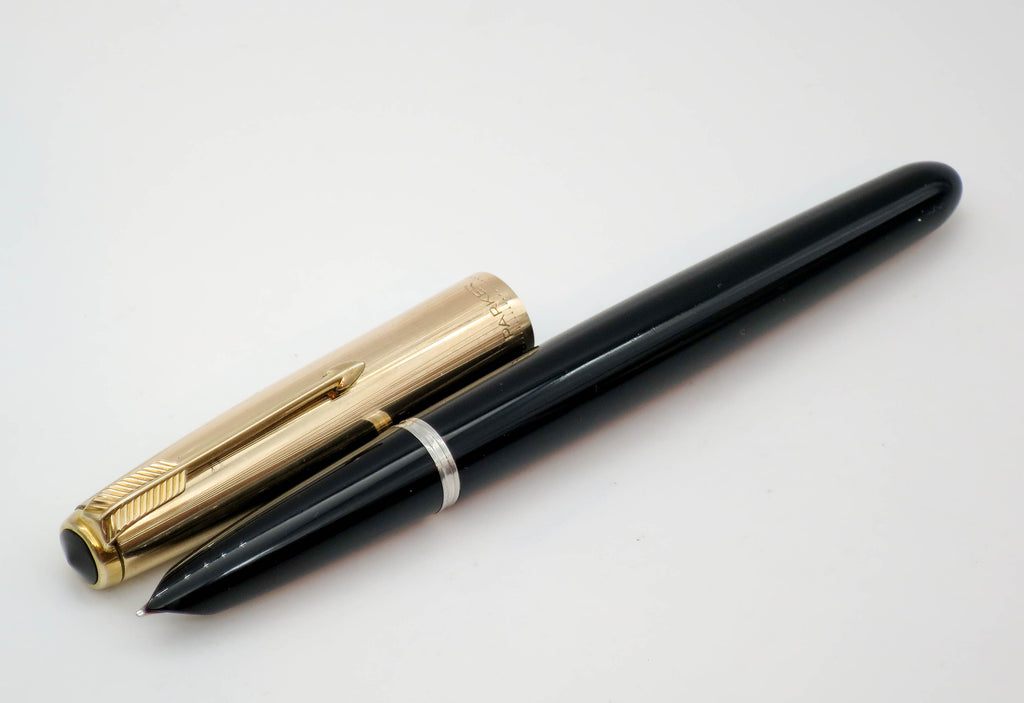 Vintage Parker 51 Aerometric Fountain Pen MKII 14k Gold Fine Nib - Grand Vision Pens UK