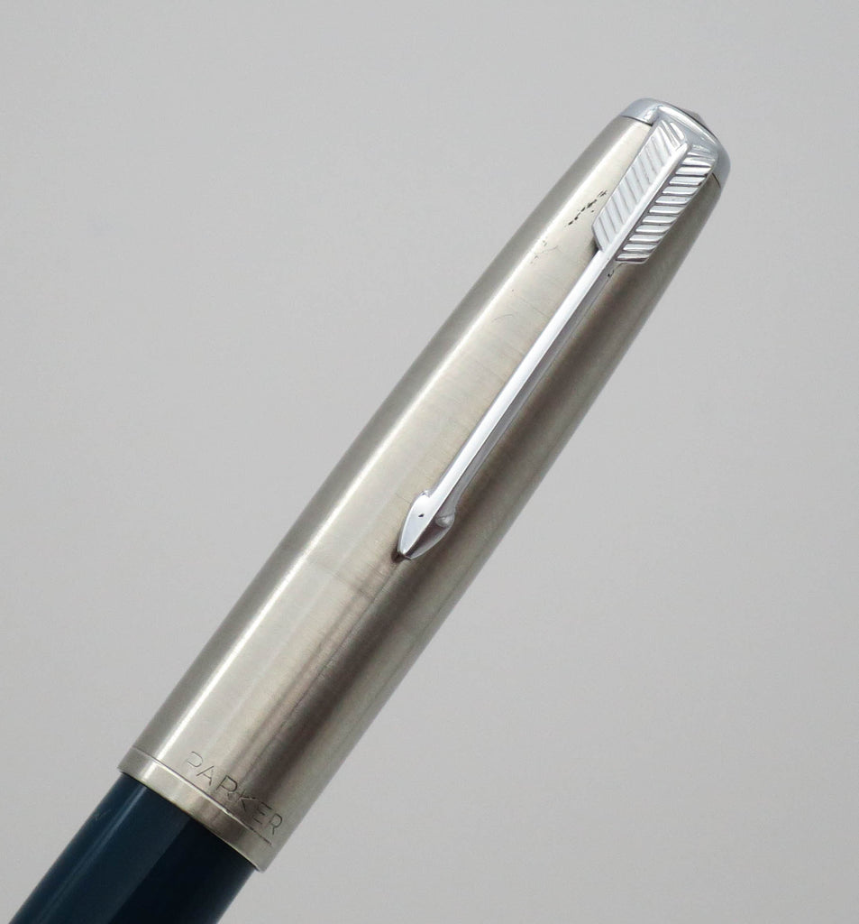 Vintage Parker 51 Aerometric Fountain Pen MKII 14k Double Broad Oblique Nib - Grand Vision Pens UK