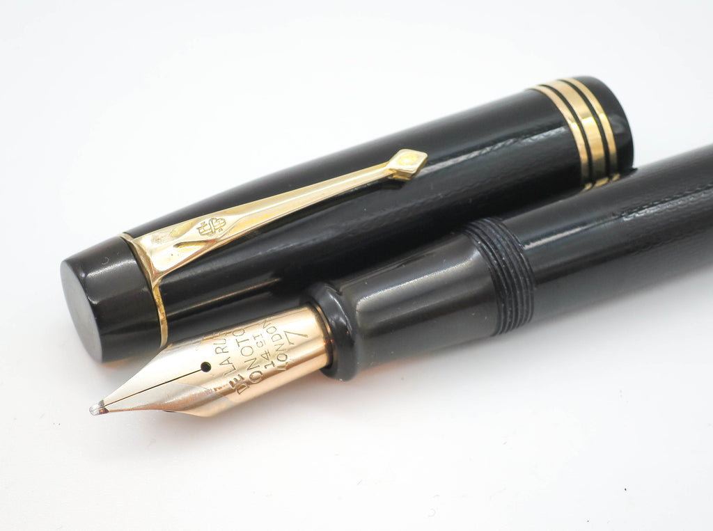 Vintage ONOTO Magna Fountain Pen 14k Gold No.7 Medium Nib - Grand Vision Pens UK