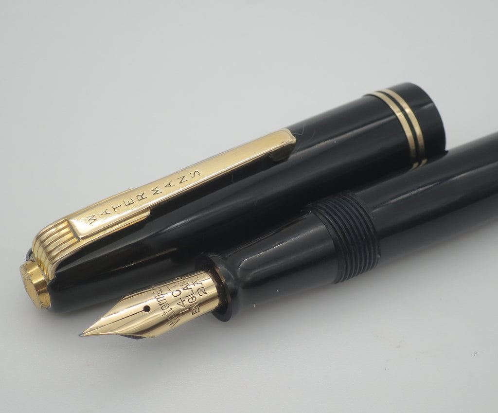 Vintage Waterman's 512 Lever Filled Fountain Pen - 14k Gold Semi Flex Nib (Very Good Condition) - Grand Vision Pens