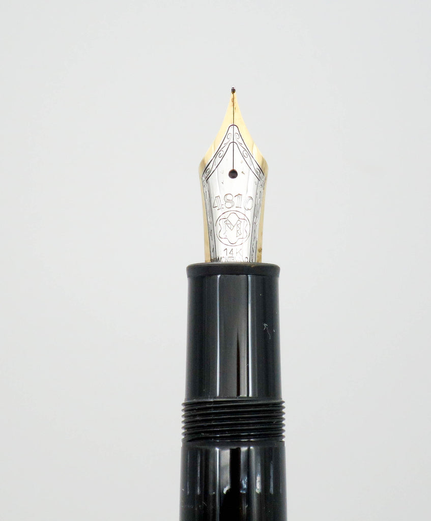 Montblanc 146 Black Piston Filled Fountain Pen 14k Gold Extra Fine (EF) Nib