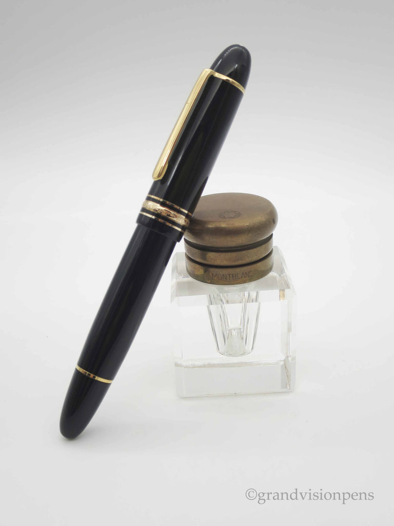 Montblanc 149 Piston Filled Fountain Pen 18k M Nib (Near Mint, Un-inked) - Grand Vision Pens UK