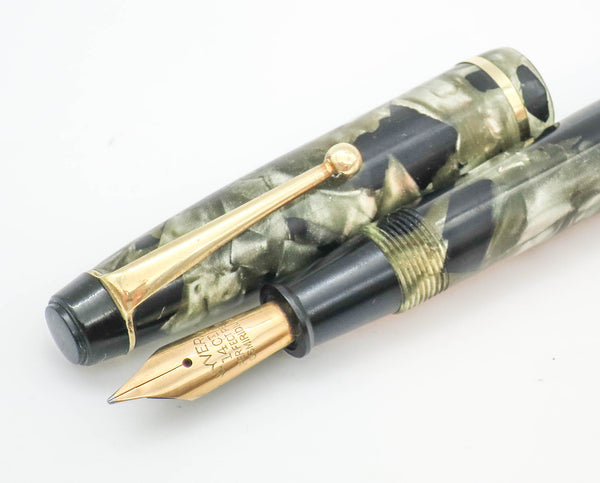 Vintage Wyvern Perfect Pen No.81 Lever Filled Fountain Pen 14k Gold Semi Flex Nib - Grand Vision Pens UK