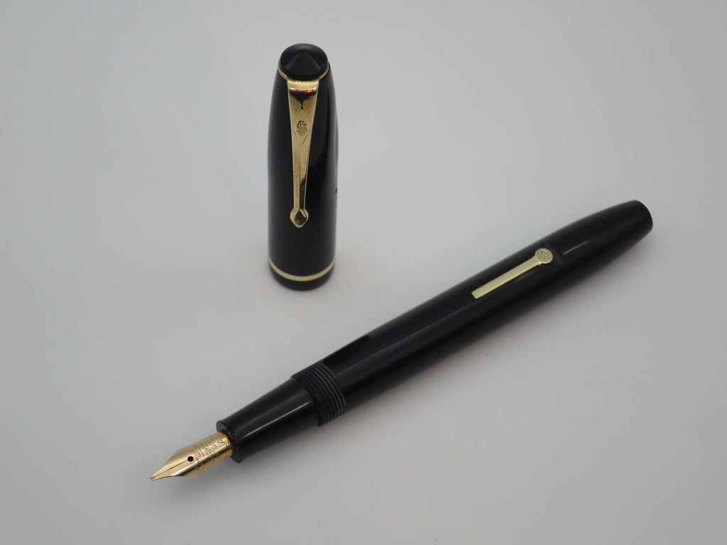 Vintage Conway Stewart No.15 Lever Filled Fountain Pen - Italic Nib (Serviced & Very Good) - Grand Vision Pens UK