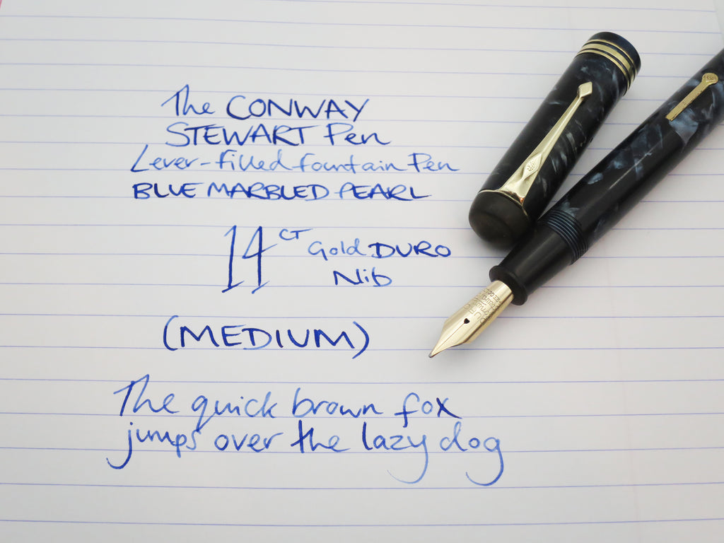 Vintage 'The Conway Stewart Pen' No.55 Lever Filled Fountain Pen 14k DURO Nib (Serviced, Very Good) - Grand Vision Pens UK