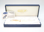 Conklin Symetrik Series Fountain Pen Ivory & Gold Medium Nib - Grand Vision Pens UK