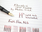 Vintage Blackbird Self-Filler No.3 Lever Filled Fountain Pen 14k Gold Full Flex Nib - Grand Vision Pens UK