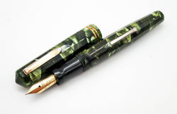 WAHL Eversharp Doric Kashmir Green Fountain Pen 14k Gold Extra Fine Manifold Nib