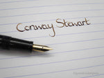 Vintage Special Edition Conway Stewart Lever Filled Fountain Pen 14k Gold Flex Nib - Grand Vision Pens UK