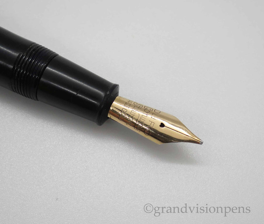 Vintage Conway Stewart No.58 Lever Filled Fountain Pen 14k Gold BROAD DURO Nib (Restored & Nr Mint) - Grand Vision Pens UK