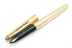 Vintage Parker 65 Insignia MKII Fountain Pen 14k Gold Broad Stub Nib - Grand Vision Pens UK