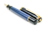 Pelikan M600 Souverän Piston Filled Fountain Pen 14k Medium Nib - Grand Vision Pens UK