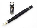 Parker Duofold International MKII Black Platinum Fountain Pen 18k Nib (Nr Mint) - Grand Vision Pens UK