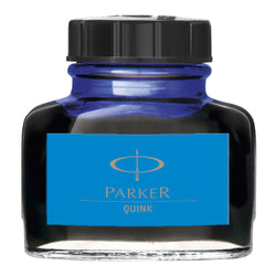 Parker Quink Washable Blue Bottled Fountain Pen Ink - 57ml Glass Bottle