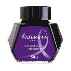 Waterman Bottled Fountain Pen Ink - Tender Purple - 50ml Glass Bottle