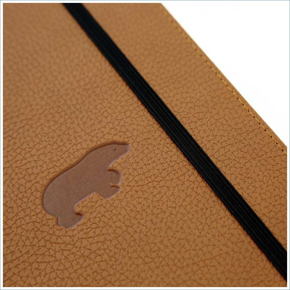 Dingbats* Wildlife Lined A5 Notebook: Brown Bear - Grand Vision Pens UK