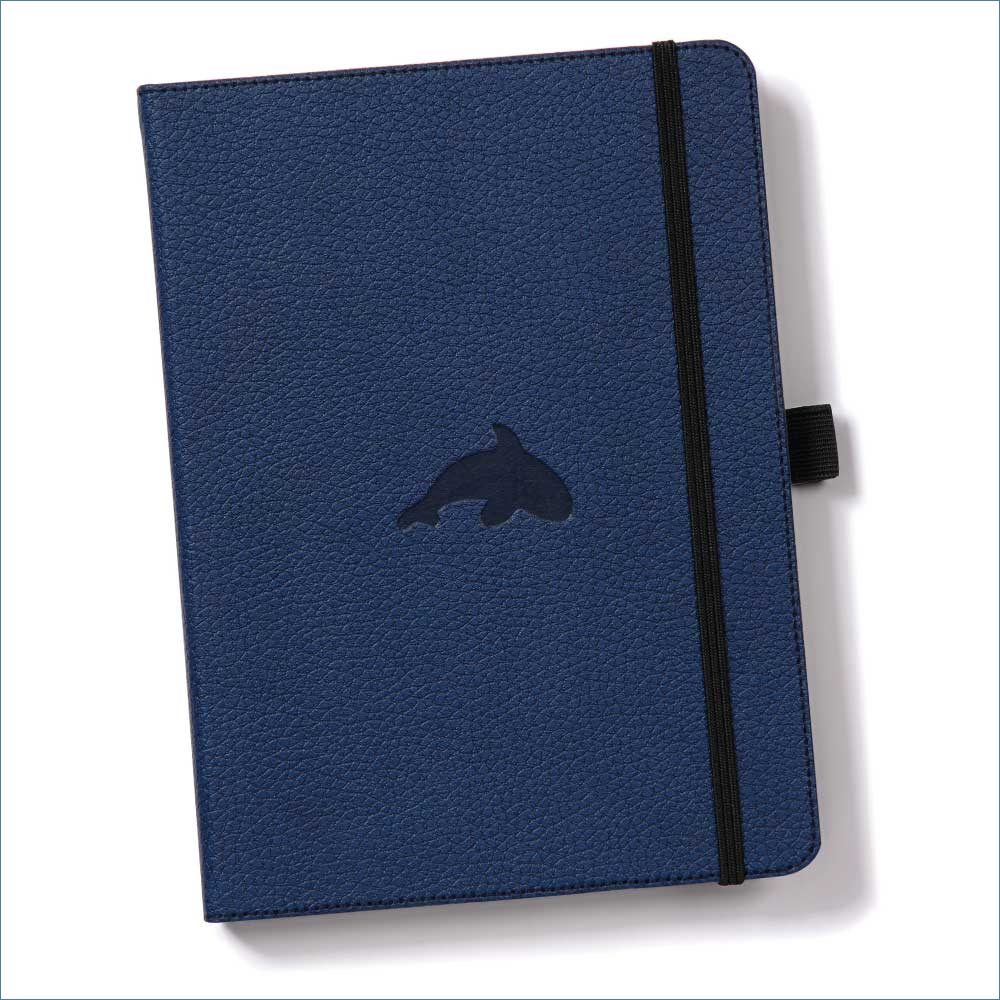 Dingbats* Wildlife Lined A5 Notebook: Blue Whale - Grand Vision Pens UK