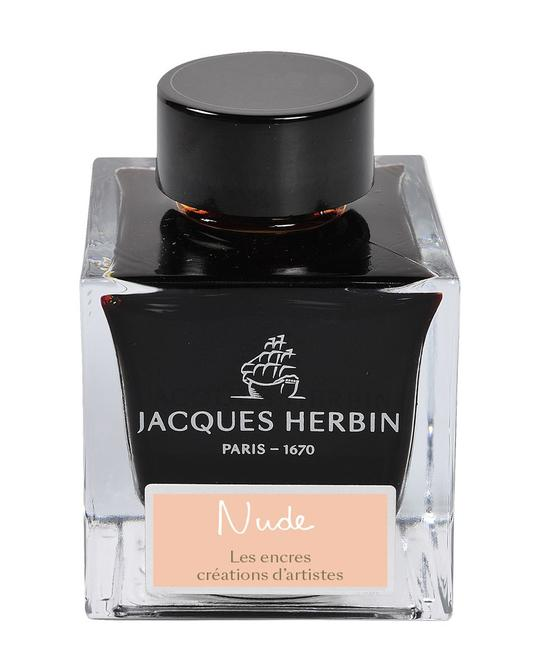 J. Herbin 'Créations d'Artistes' Fountain Pen Ink - Nude by Marc-Antoine Coulon - 50ml bottle - Grand Vision Pens UK