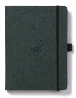 Dingbats* Wildlife Dotted A4 Notebook: Green Deer