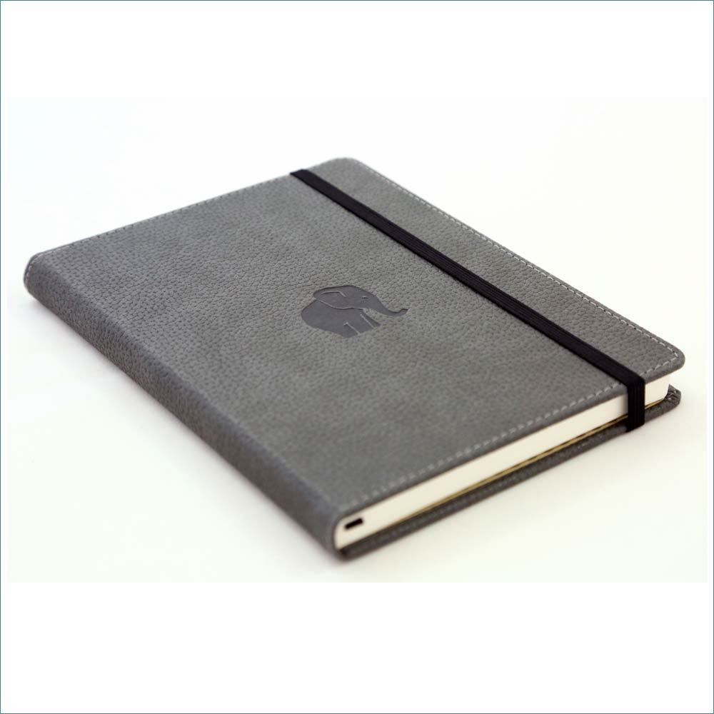 Dingbats* Wildlife Dotted A4 Notebook: Grey Elephant - Grand Vision Pens UK