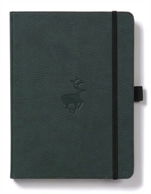 Dingbats* Wildlife Lined A5 Notebook: Green Deer - Grand Vision Pens UK