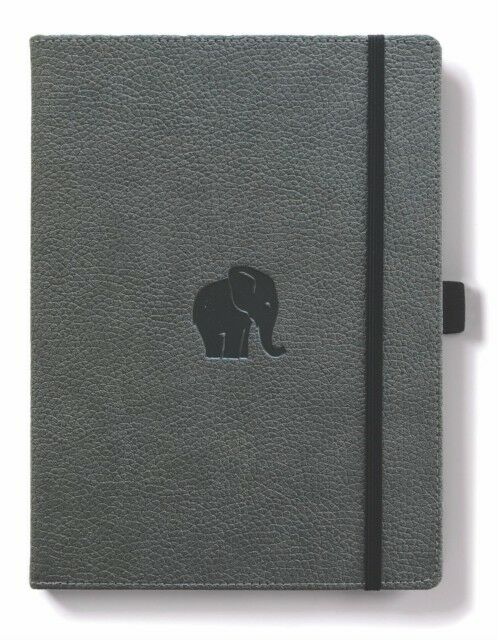 Dingbats* Wildlife Lined A4 Notebook: Grey Elephant - Grand Vision Pens UK