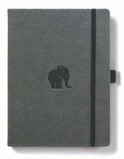 Dingbats* Wildlife Lined A4 Notebook: Grey Elephant