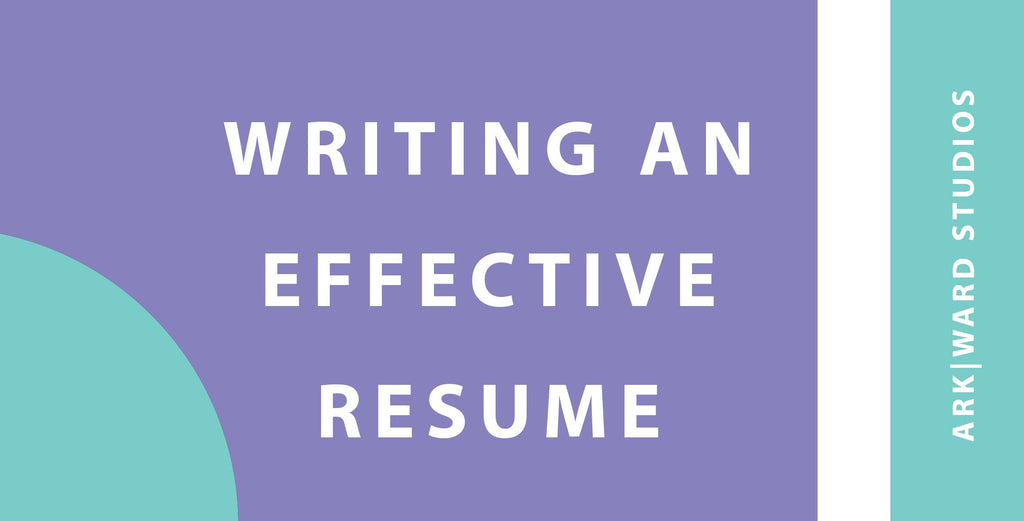 Writing an effective resume- webinar