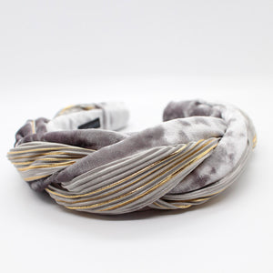 ARKWARD SILVER & GOLD BRAIDED HEADBAND