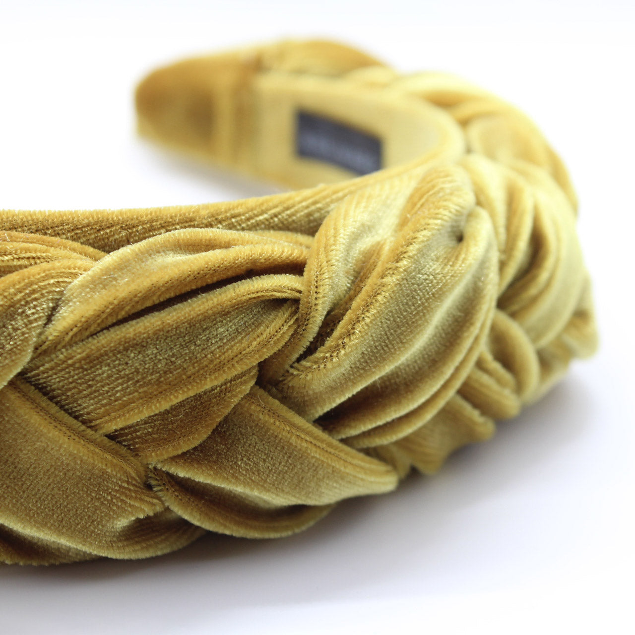 Mustard Velvet Braided Headband