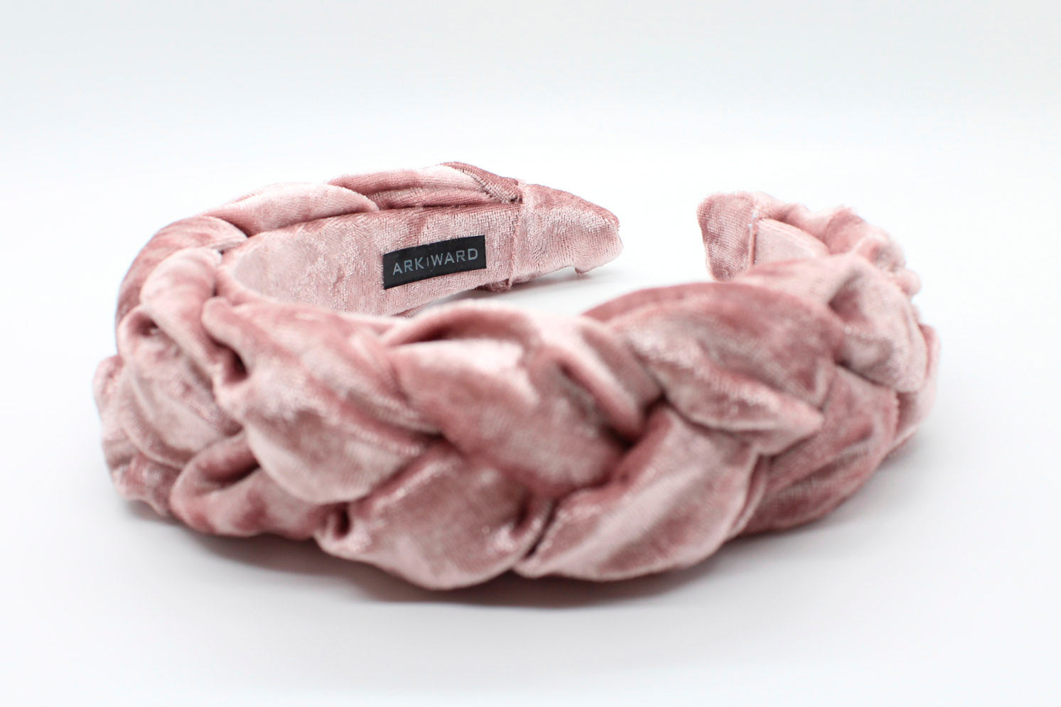 ARKWARD Flamingo Pink Velvet Braided Headband